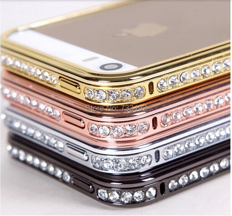 .FOR iPhone6 6plus metal frame border mobile phone sets diamond studded cell case - sherry chen(SZ store Electronic Co.,Ltd)