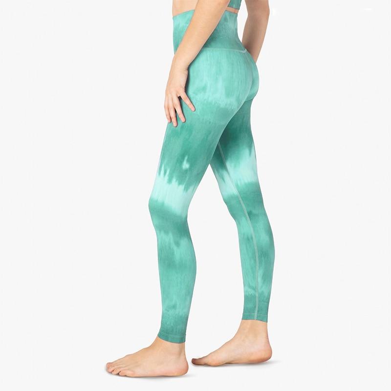 Fashion Color Graffiti Printing Female Yoga Leggings Gradient Fitness Leggings For Women Gym Leggings Workout Mujer Yoga Pants in Yoga Pants from Sports Entertainment