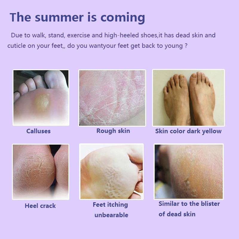 3pair = 6PCS Baby Foot Mask Exfoliating Feet Mask Feet Cream - Briga o koži - Foto 4