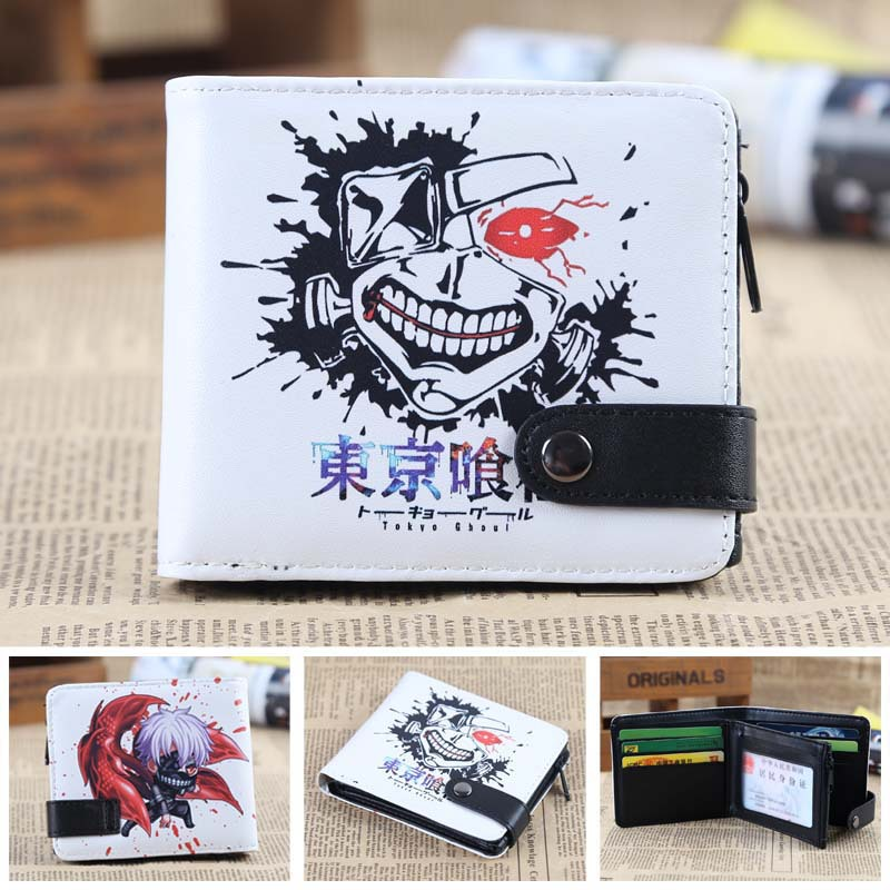 Tokyo Ghoul Anime wallet Leather pu short Bifold Purse Cosplay Wallet japan anime death note wallet cosplay long leather pu zipper purse