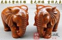Изделия из красного дерева железная груша цельная резьба по дереву Слон Лаки Фэн Шуй Украшения Дома слон
