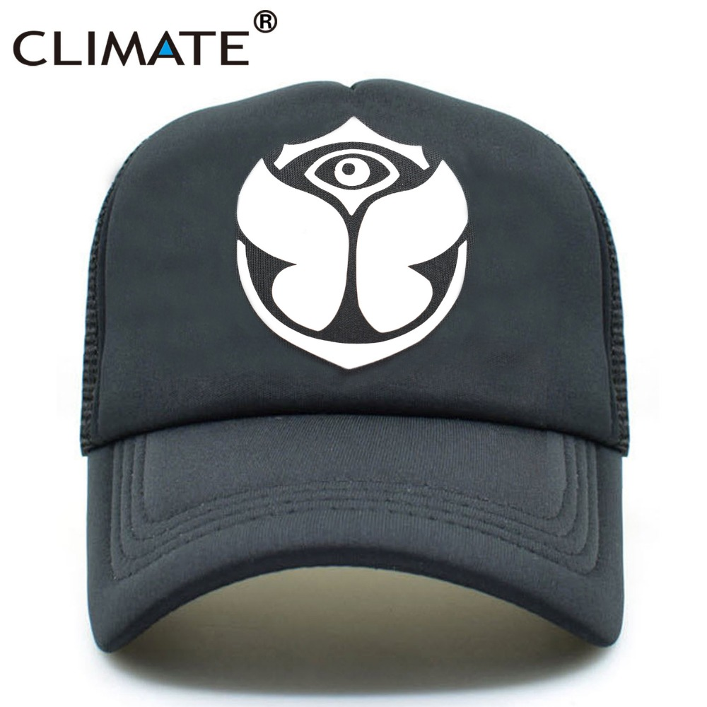 CLIMATE Men Women Cool Music Trucker Mesh Caps Tomorrowland Belgium 2017 Cap Women Men Rock DJ electronic Music Festival Cap Hat fuji rock festival 2017 niigata saturday