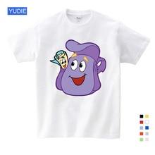 2-12Y Children Girls Dora T Shirt Girl Summer 100% Cotton Cartoon T-shirt Short Sleeve Baby T-shirts YUDIE