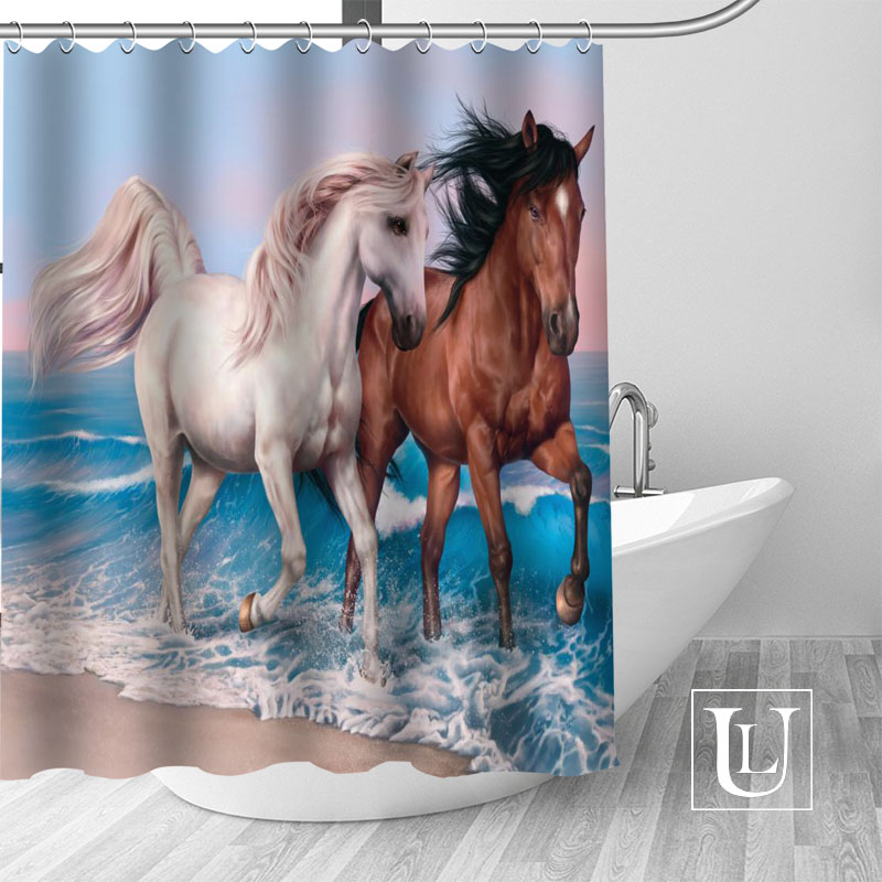 New arrival Custom horses Shower Curtain bathroom beautiful decor Shower Curtain Waterproof for yourself
