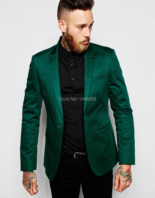new arrival 2017 mens suits italian design green stain jacket groom