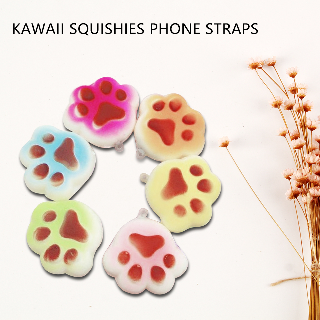 Mobile Phone Straps Punctual Etmakit Cute Squishy Cute Cat Claw Antistress Ball Squeeze Joke Rising Abreact Soft Sticky Squishy Stress Relief Phone Straps Consumers First