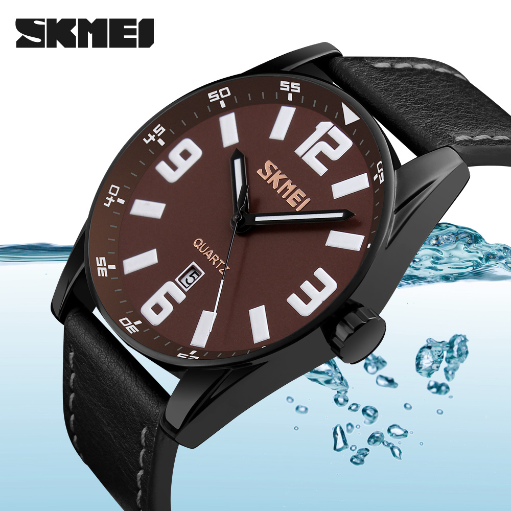 SKMEI Wristwatch Men Watches Top Brand Luxury Famous Wrist Watch Business Male Clock Quartz Watch Quartz-watch Relogio Masculino new 2017 men watches luxury top brand skmei fashion men big dial leather quartz watch male clock wristwatch relogio masculino