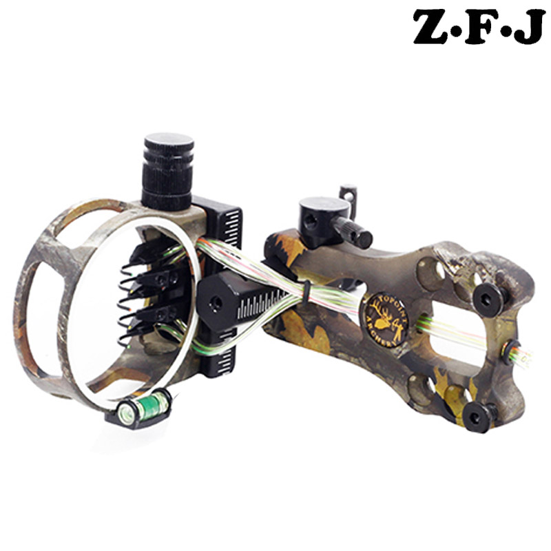 1pc 0 019 Optical Fiber 5 pins Compound Bow Sight Micro Adjustable Bow Sight with Light