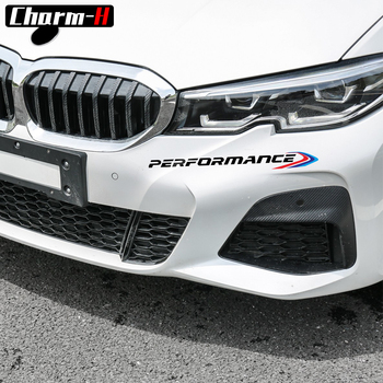 2Pcs New M Performance Front Bumper Decal Sticker For BMW 90 E46 E39 E60 F30 F20 G30 X6 F16 F10 F34 X3 X4 X5 E70 F15 M3 M5 Z4 image