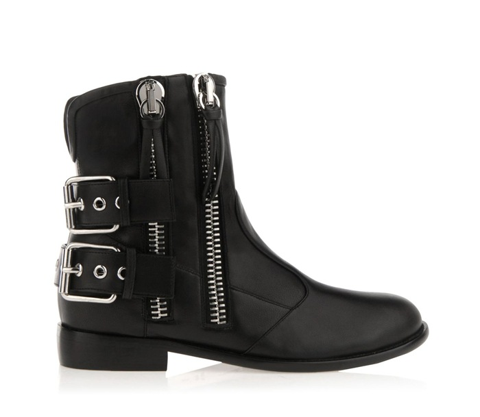 Women Spring Autumn Flats Buckle Side Zipper Genuine Leather Round Toe Fashion Ankle Martin Boots Size 35-41 SXQ0826 women spring autumn thick mid heel genuine leather round toe 2015 new arrival fashion martin ankle boots size 34 40 sxq0902