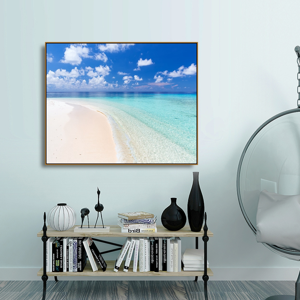Laeacco Canvas Painting Calligraphy Beach Wall Artwork Pictures Posters Prints Nordic Home Decor Living Room Decoration
