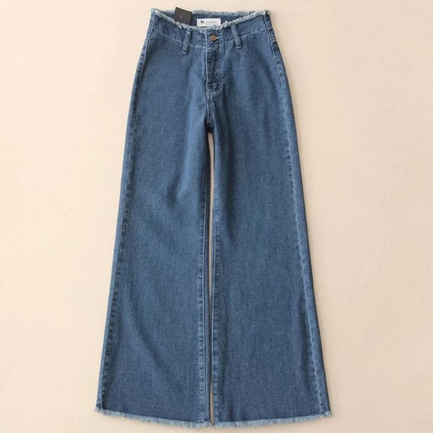 a7b7757212 Blue Vaqueros Alta De Cintura Pierna Dama Oficina Darl Moda Primavera Otoño  Lavado Stretch Flare Jeans Pantalones Ancha qxwa1n74CI