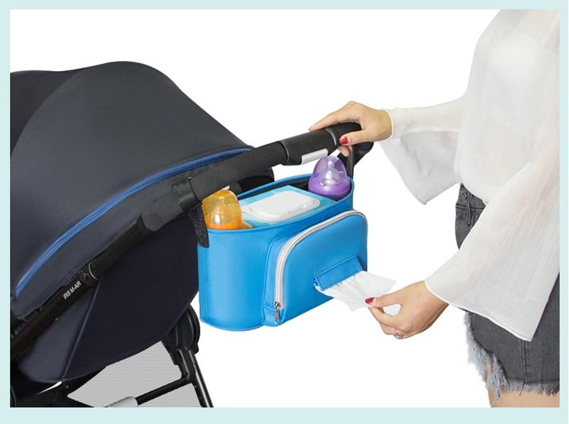 HTB1XThLelCw3KVjSZR0q6zcUpXat Baby Stroller Organizer Nappy Bag Mummy Waterproof Hanging Carriage Bottle Bag Handbag Pram Buggy Cart Organizer Diaper Bag