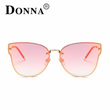DONNA Fashion Cat Eyes Sunglasses Brand Designer Vintage Mirror Sun Glasses For Female Outdoor Sports Eyewear D104