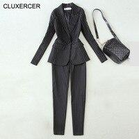 Высокое качество Офис единые конструкции Женщины Рабочая одежда женский Брючные костюмы для женщин элегантный деловой единый стиль 2 предм