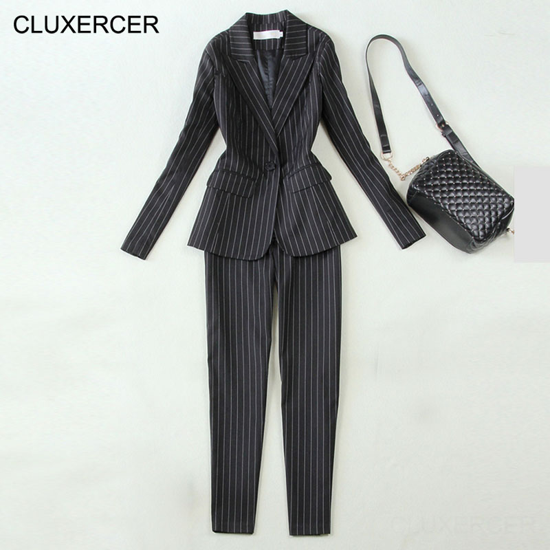 High Quality office uniform designs women Work wear Female Pant Suits elegant business uniform style 2 pieces trouser suit