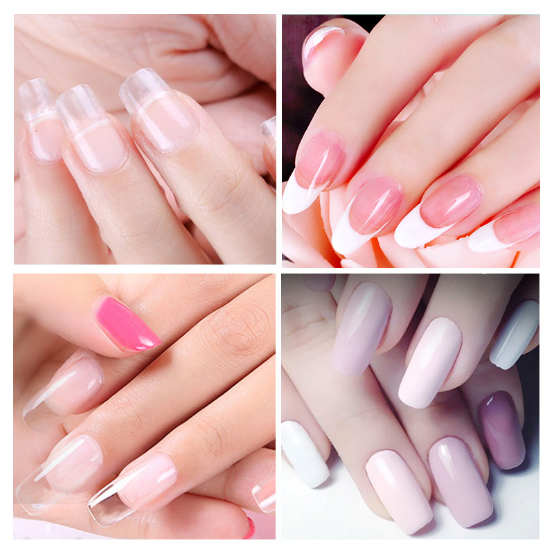 Saviland 6pcs Set Crystal Jelly Poly Gel French Nail Tips Extension Kit Led Lamp Uv Builder For Manicure Nails Art In From Beauty