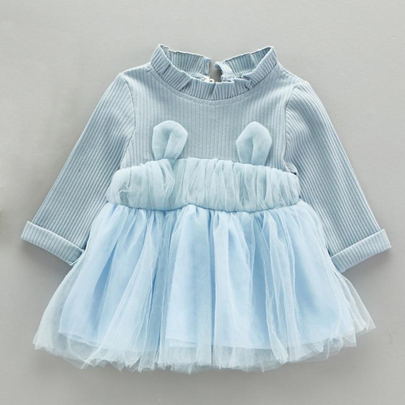 Baby blau kleid langarm