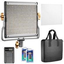 Neewer Dim Bi-renk 480 LED Video Işığı CRI 96 + U Braket + ile 3200-5600 K 2 Parça DSLR için Şarj Edilebilir Li-Ion Pil