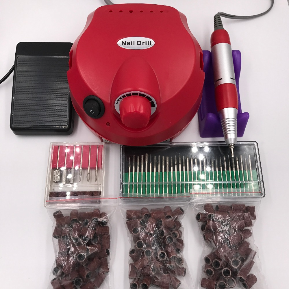 30000 Rpm Pro Electric Nail Art Drill File Bits Machine