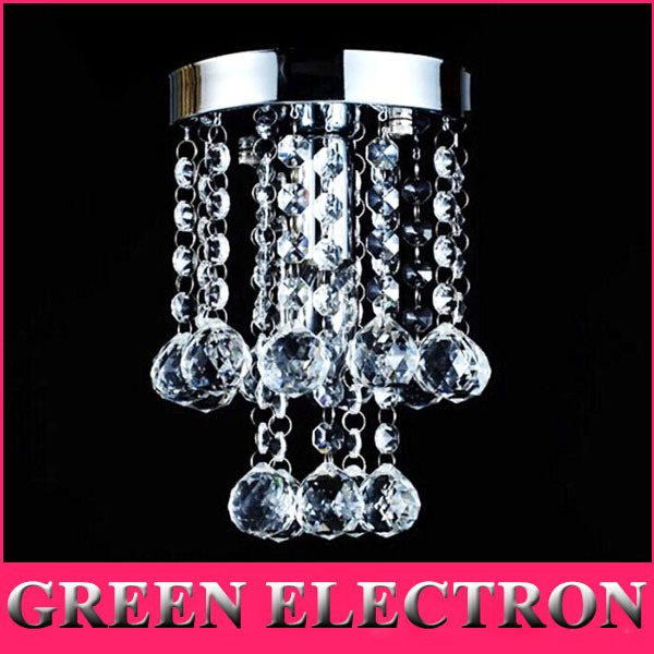Luxury K9 Crystal Chandelier Small Crystal Lustre Lamp for Aisle Stair Hallway Corridor Porch Light Lighting Fixture