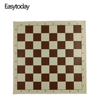 Easytoday Chess Board Games Synthetic Leather Accessories One Side Chessboard International Standard