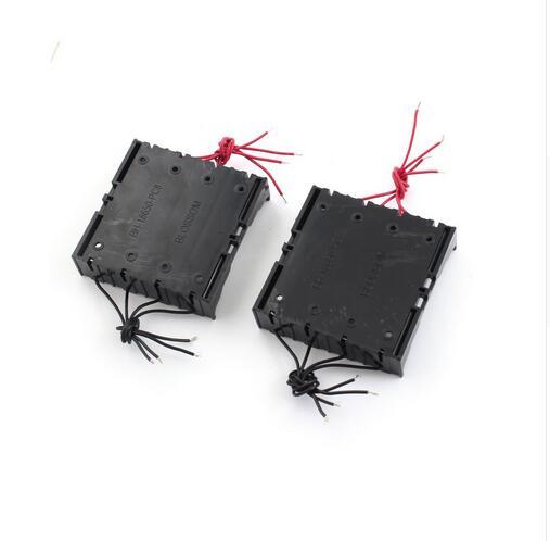 80 pçs/lote MasterFire 11cm 8-Fios de Plástico Preto 4x3.7 V 18650 Bateria De Armazenamento Titular Case Capa box Para 4x18650 baterias