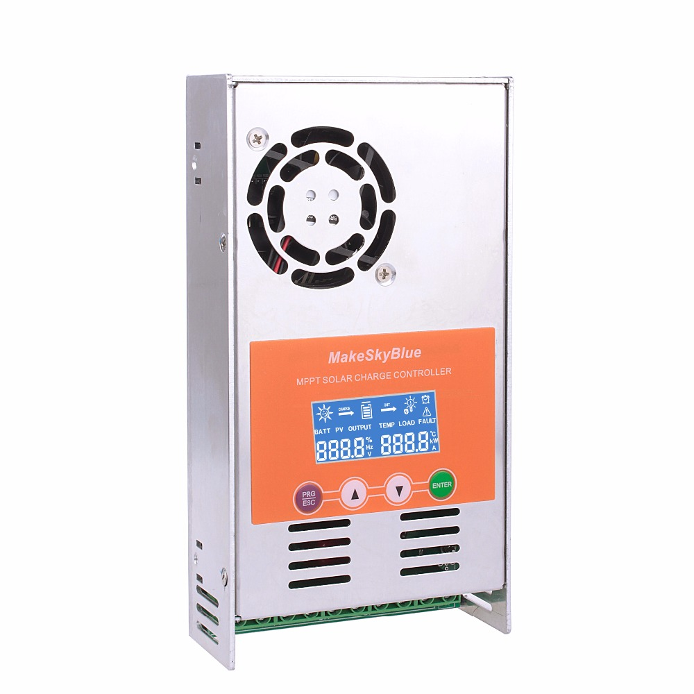 High Efficiency MPPT LCD Display 30A 40A 50A 60A Solar Charge Controller 12V 24V 36V 48V Solar Battery Charge Controller cheap saipwell high power solar charge controller 12v 50a smg50