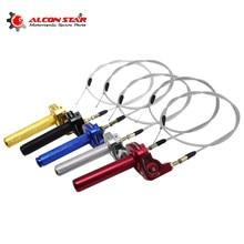 Alconstar универсальные поворотные ручки для мотоцикла, 7/8 дюйма, дроссельная заслонка, 22 мм, ЧПУ, алюминиевая рукоятка, акселератор, мопед, скуте...