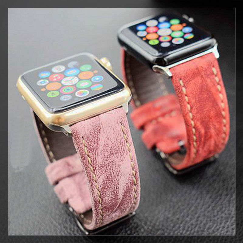 Date Véritable Cuir regarder la bande sangles pour apple montre série 1 2 3 iwatch bracelets