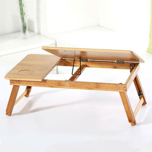 Image 5 - Adjustable Bamboo Computer Stand Laptop Desk Notebook Desk Laptop Table For Bed Sofa Bed Tray Picnic Table Studying Table