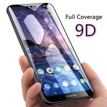 9D Vetro di Protezione Per Nokia 4.2 3.2 3 6 7 8 3.1 5.1 6.1 7.1 8.1 Più Protezione Dello Schermo per nokia 8.1 7 Plus 5.1 6.1 Della Copertura Della Pellicola