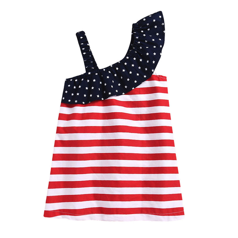 HTB1XTjPvHorBKNjSZFjq6A SpXaS - Baby Girls Infant Kids 4th Of July Star Dress Clothes Sundress Casual Sets T#