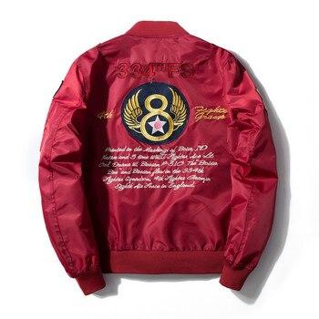 Men Women Badge Embroidery Bomber Jacket Air Force One Letter Hip Hop Baseball Pilot Jacket Fashion Streetwear Youth Couple Coat