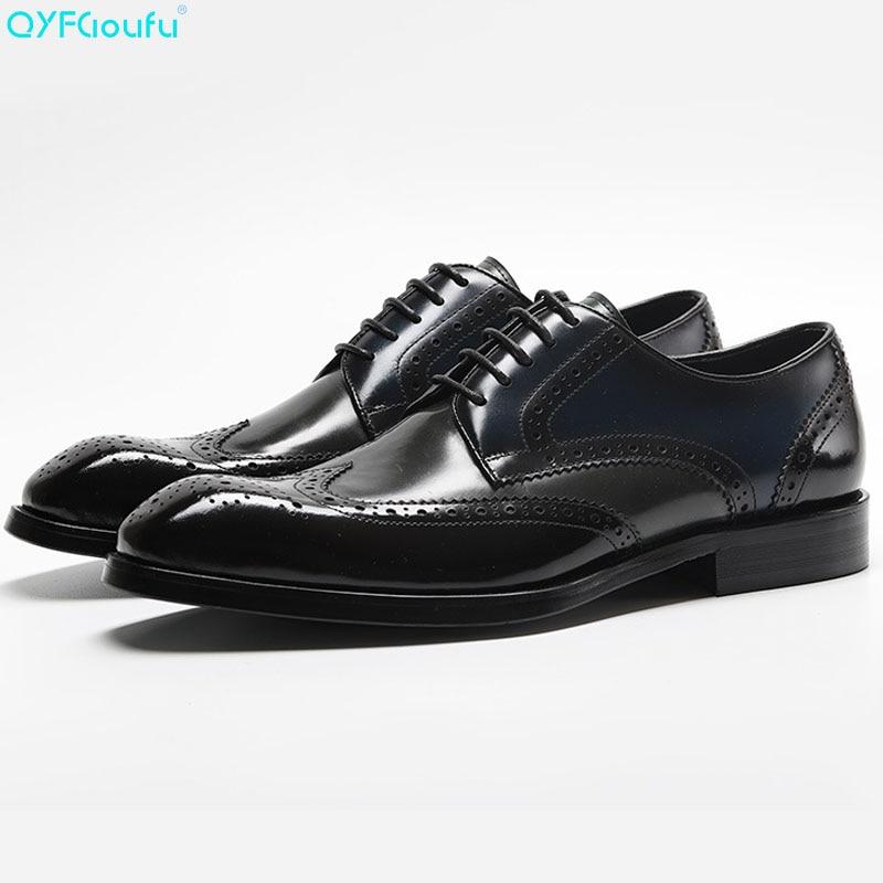 Men/'s Lace Up Square Toe Dress Classic Oxford Shoes