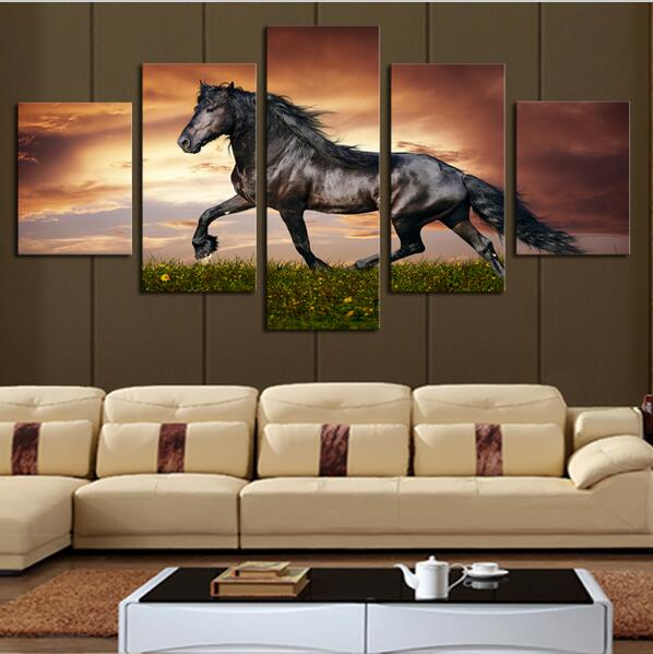 5 Panel Large Horse Onthe Grass Canvas Painting For Living Room Modern  Decoration Wall Art PictureCost To Paint A Large Living Room   destroybmx com. Cost To Paint A Large Living Room. Home Design Ideas