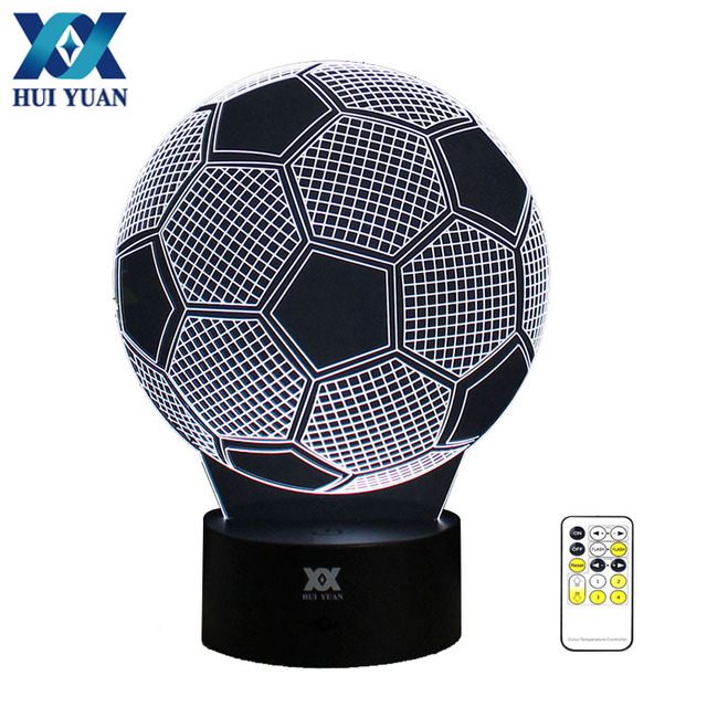 Soccer Ball Night Light Rgb Changeable Mood Lamp Led Dc 5v Usb Decorative Table