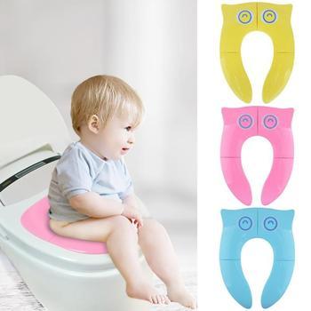 Crianças criança portátil toalete assento de treinamento do bebê viagem dobrável potty assento para crianças urinol almofada crianças pote cadeira almofada