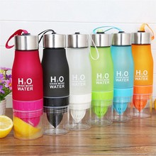 New Xmas Gift 650ml Water Bottle Plastic Fruit Infusion