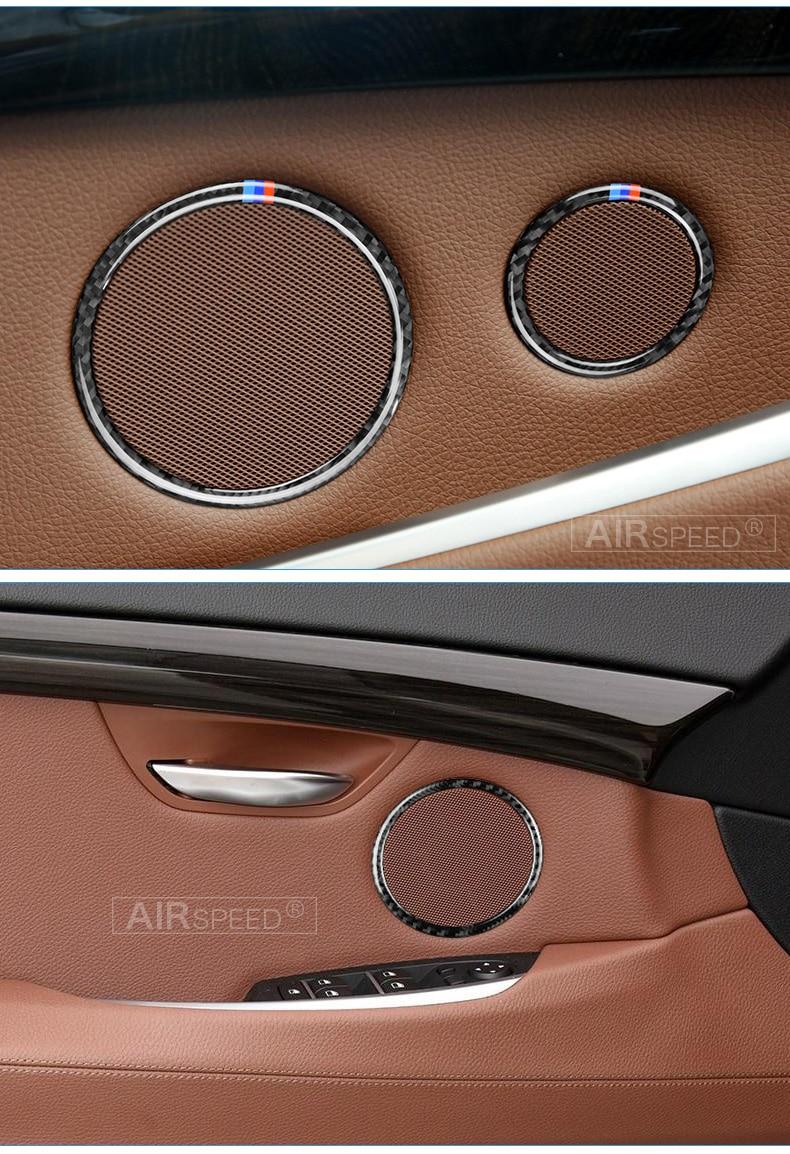 Airspeed for BMW F25 X3 X4 F26 X4 BMW F26 F07 Sticker for BMW X3 F25 Carbon Fiber Interior Trim Stickers Car Door Speaker Ring (7)