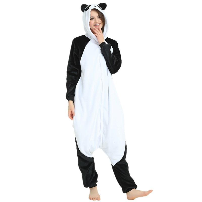 Cute Kungfu Panda Kigurumi Soft Flannel Cartoon Onesie Warm Panda Night-suit Set Cosplay Jumpsuit Party Sleepwear For Halloween (4)