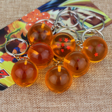 RJ Hot Sale 20Pcs/Lot Dragon Ball Keychain High Quality 1-7 Star Orange Round Z Balls Toys Men Keyring Wholesales Chaveiro