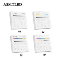 Controlador de Panel Mi Light B1 B2 B3 B4, 2 baterías AAA, 2,4G, Control de pantalla táctil RF para CCT DIM RGB RGBW RGB + CCT, tira/bombilla LED