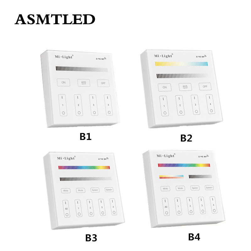 Mi Light B1 B2 B3 B4 Panel Controller 2 X AAA Battery 2.4G RF Touch Screen Control for CCT DIM RGB RGBW RGB+CCT LED Strip / Bulb-in RGB Controlers from Lights & Lighting
