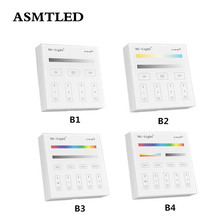 Mi ışık B1 B2 B3 B4 Paneli Denetleyicisi 2 X AAA Pil 2.4G RF Dokunmatik Ekran Kontrolü CCT DIM RGB RGBW RGB + SKK LED Şerit/Ampul