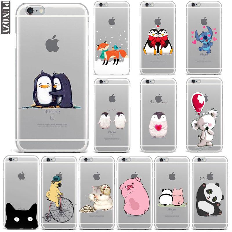 Animal Gifts Fox Owl Stitch Koala Panda Penguin Phone Case For