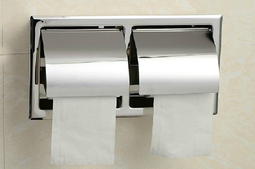 ᗔEnvío libre 304 de acero inoxidable titular de papel higiénico ...