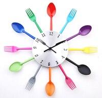 A003 DIY nowoczesny Nowy 2014 projekt zegary zegar ścienny Nóż Widelec Łyżka Kuchnia kinves home decoration