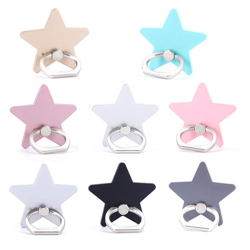 Latest Version Five-pointed Star Shaped 360 Degree Mobile Phone Back Splint Finger Ringer Phone Holder For iPhone Samsung Xiaomi