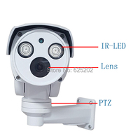 Analog High Definition AHD MINI PTZ Bullet Waterproof CCTV Camera 2 0MP 1080P With Long IR